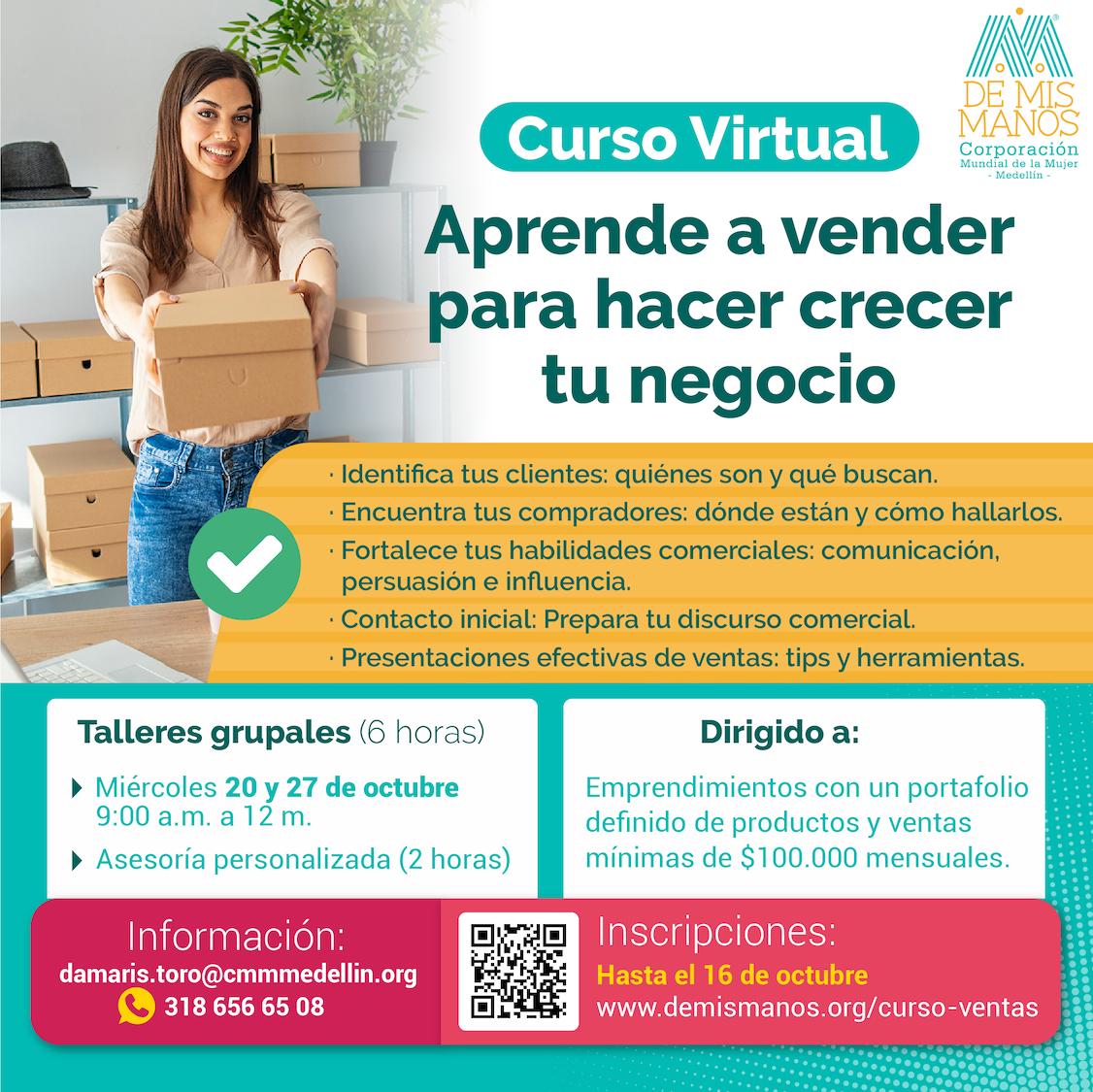 curso virtual vender ventas emprendimiento emprender